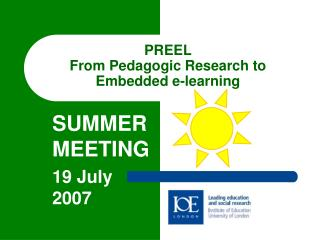 PREEL From Pedagogic Research to Embedded e-learning