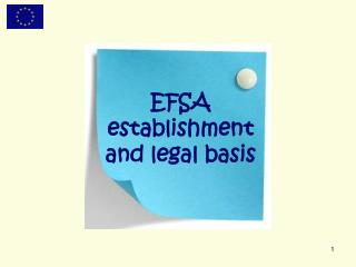 EFSA establishment  and legal basis