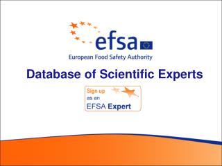 Database of Scientific Experts