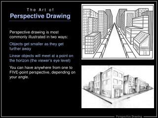 T h e   A r t   o f Perspective Drawing