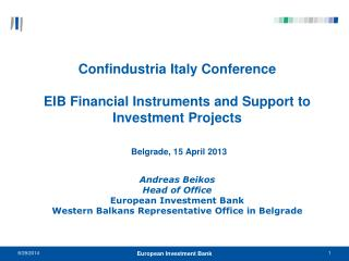 EIB Group :