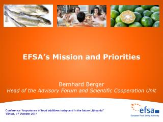 EFSA's Mission and Priorities