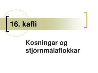 16. kafli
