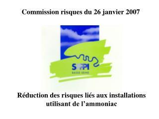 Réduction des risques liés aux installations utilisant de l'ammoniac