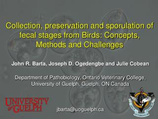 Collection, preservation and sporulation of fecal stages from Birds: Concepts, Methods and Challenges