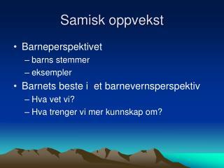 Samisk oppvekst