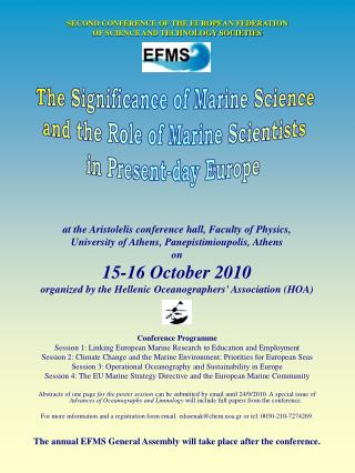 SECOND CONFERENCE OF THE EUROPEAN FEDERATION OF SCIENCE AND TECHNOLOGY SOCIETIES