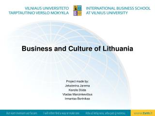 Business and Culture of Lithuania