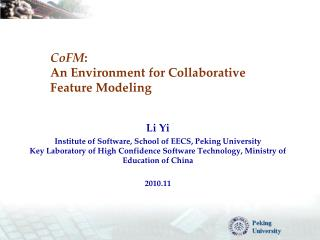 CoFM : An  Environment  for  Collaborative Feature Modeling