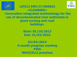 LIFE12 ENV/IT/000652