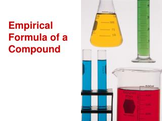 Empirical Formula of a Compound