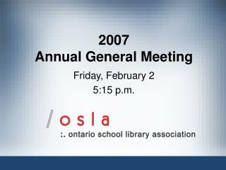 2007  Annual General Meeting