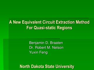 A New Equivalent Circuit Extraction Method For Quasi-static Regions