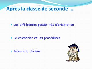 Apr s la classe de seconde