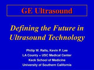GE Ultrasound