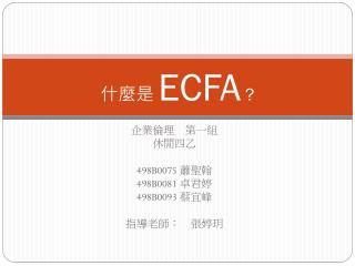 什麼是  ECFA ?