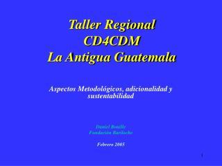 Taller Regional CD4CDM La Antigua Guatemala