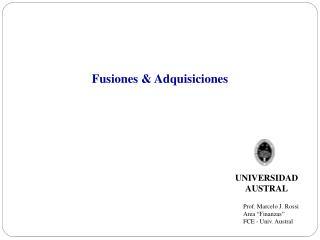 Fusiones & Adquisiciones