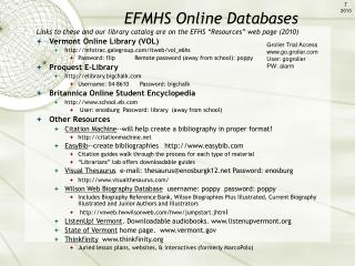 Vermont Online Library (VOL) infotrac.galegroup/itweb/vol_e6hs
