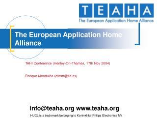 The European Application Home Alliance