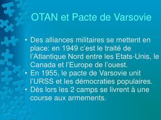 OTAN et Pacte de Varsovie