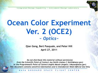 Ocean Color Experiment Ver. 2 (OCE2) ~  Optics ~