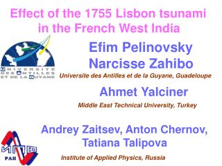 Effect of the 1755 Lisbon tsunami  in the French West India