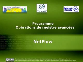Programme  Opérations de registre avancées NetFlow