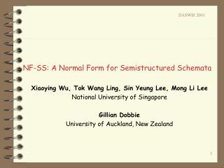 NF-SS: A Normal Form for Semistructured Schemata