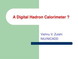 A Digital Hadron Calorimeter ?