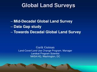 Global Land Surveys