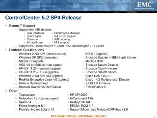 ControlCenter 5.2 SP4 Release