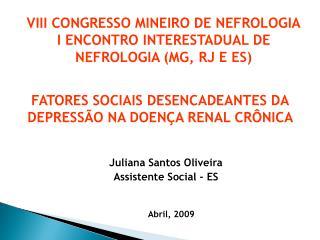 Juliana Santos Oliveira Assistente Social - ES