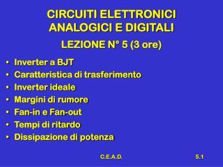 CIRCUITI ELETTRONICI  ANALOGICI E DIGITALI