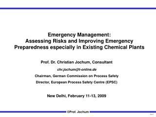 Prof. Dr. Christian Jochum, Consultant chr.jochum@t-online.de
