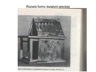 Rozwój formy świątyni greckiej