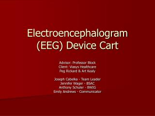 Electroencephalogram (EEG) Device Cart