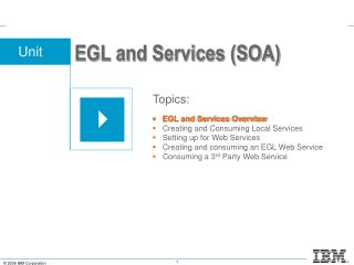 EGL and Services (SOA)