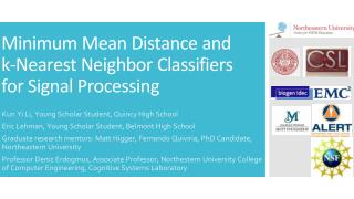 Minimum Mean Distance and k-Nearest Neighbor Classifiers for Signal Processing