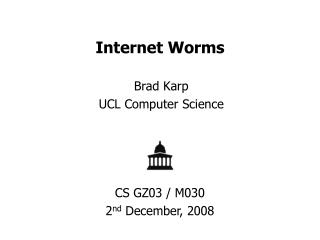 Internet Worms