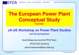 The European Power Plant Conceptual Study Overview