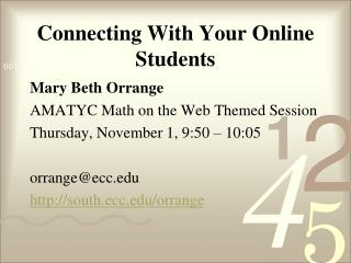 Connecting With Your Online Students
