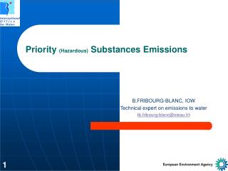 Priority  (Hazardous)  Substances Emissions