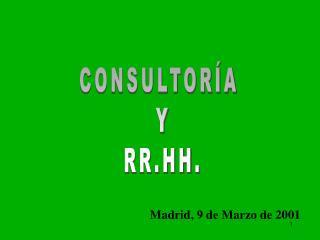 CONSULTORÍA  Y RR.HH.