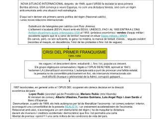 CRISI DEL PRIMER FRANQUISME 1955-1959