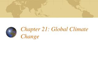 Chapter 21: Global Climate Change