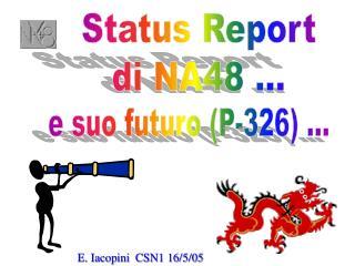 Status Report di NA48 ...