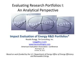 Evaluating Research Portfolios I:  An Analytical Perspective