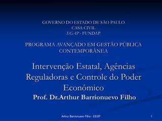 Agências e Intervenção