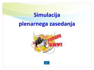 Simulacija  plenarnega zasedanja
